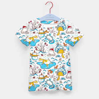 Imagen en miniatura de Winter Cats Kid's t-shirt, Live Heroes