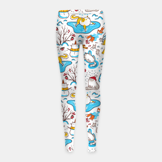 Imagen en miniatura de Winter Cats Girl's leggings, Live Heroes