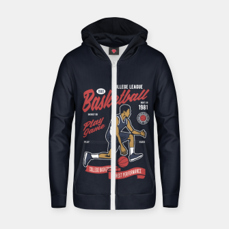 Thumbnail image of Basketball College League by ANIMOX Zip up hoodie, Live Heroes