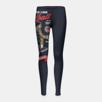 Thumbnail image of Basketball College League by ANIMOX Girl's leggings, Live Heroes