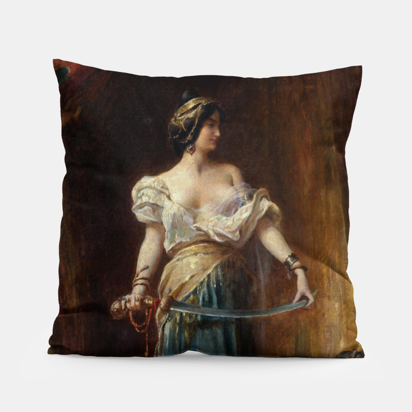 Image of The Harem by Adrien Henri Tanoux Pillow - Live Heroes