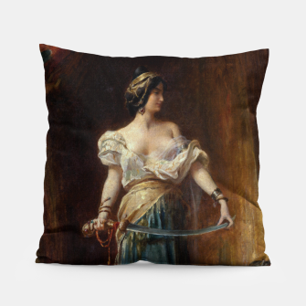 Thumbnail image of The Harem by Adrien Henri Tanoux Pillow, Live Heroes