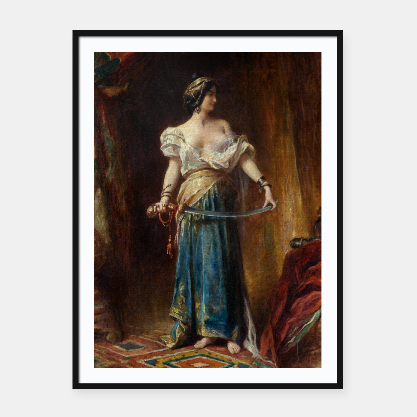 Image of The Harem by Adrien Henri Tanoux Framed poster - Live Heroes