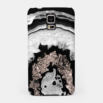 Thumbnail image of Gray Black White Agate with Rose Gold Glitter #2 #gem #decor #art  Handyhülle für Samsung, Live Heroes