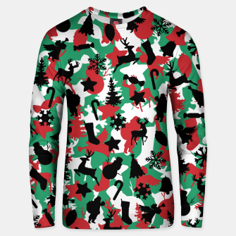 Thumbnail image of Christmas Camo WINTER WOODLAND Unisex sweater, Live Heroes