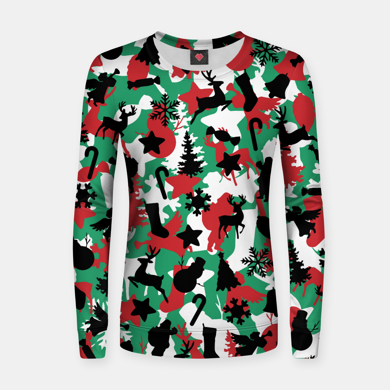 Image of Christmas Camo WINTER WOODLAND Women sweater - Live Heroes
