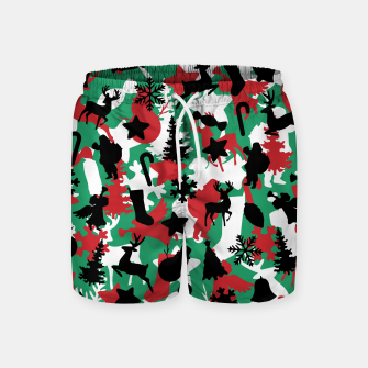 Miniatur Christmas Camo WINTER WOODLAND Swim Shorts, Live Heroes