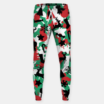 Thumbnail image of Christmas Camo WINTER WOODLAND Sweatpants, Live Heroes