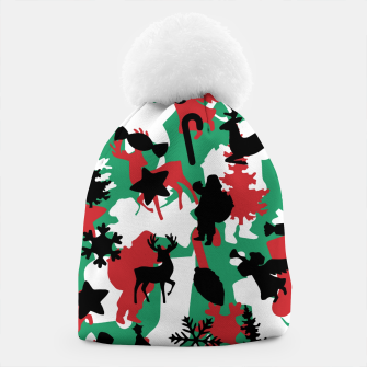 Thumbnail image of Christmas Camo WINTER WOODLAND Beanie, Live Heroes