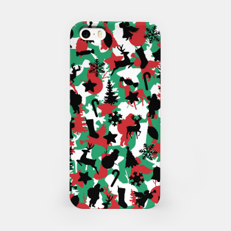 Miniatur Christmas Camo WINTER WOODLAND iPhone Case, Live Heroes