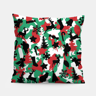 Christmas Camo WINTER WOODLAND Pillow Bild der Miniatur