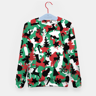 Christmas Camo WINTER WOODLAND Kid's sweater Bild der Miniatur