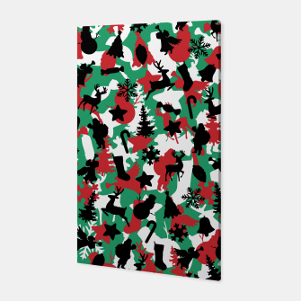 Christmas Camo WINTER WOODLAND Canvas Bild der Miniatur
