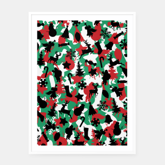 Thumbnail image of Christmas Camo WINTER WOODLAND Framed poster, Live Heroes