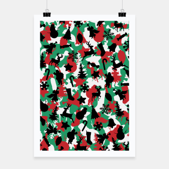 Thumbnail image of Christmas Camo WINTER WOODLAND Poster, Live Heroes