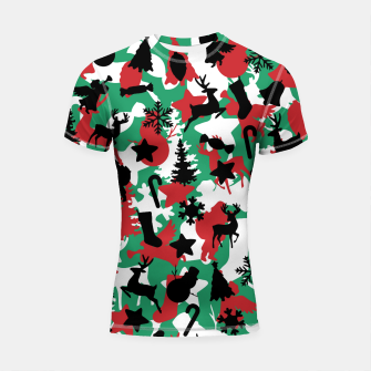 Thumbnail image of Christmas Camo WINTER WOODLAND Shortsleeve rashguard, Live Heroes