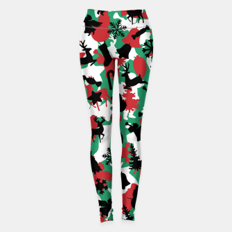 Thumbnail image of Christmas Camo WINTER WOODLAND Leggings, Live Heroes