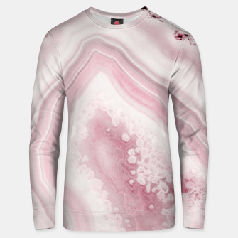 Blush Agate Dream #1 #gem #decor #art Unisex sweatshirt obraz miniatury