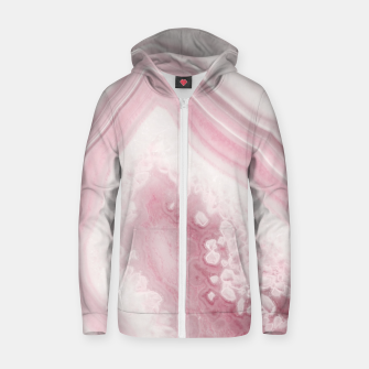 Thumbnail image of Blush Agate Dream #1 #gem #decor #art Reißverschluss kapuzenpullover, Live Heroes