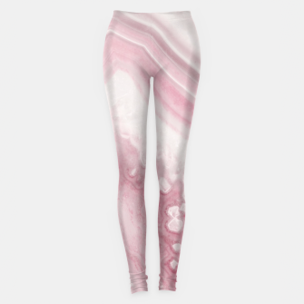 Blush Agate Dream #1 #gem #decor #art Leggings miniature