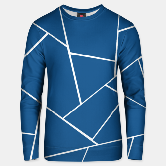 Classic Blue Geometric Glam #1 #geo #decor #art Unisex sweatshirt miniature