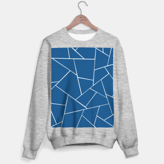 Classic Blue Geometric Glam #1 #geo #decor #art Sweatshirt regulär miniature