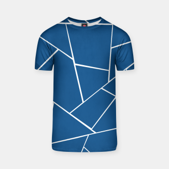 Classic Blue Geometric Glam #1 #geo #decor #art T-Shirt Bild der Miniatur