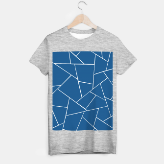 Classic Blue Geometric Glam #1 #geo #decor #art T-Shirt regulär obraz miniatury