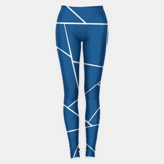 Classic Blue Geometric Glam #1 #geo #decor #art Leggings Bild der Miniatur
