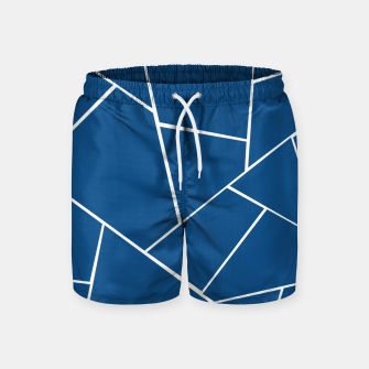 Classic Blue Geometric Glam #1 #geo #decor #art Badeshorts miniature
