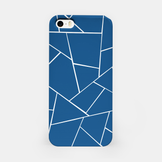 Classic Blue Geometric Glam #1 #geo #decor #art iPhone-Hülle Bild der Miniatur