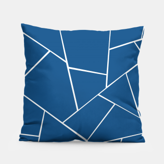 Classic Blue Geometric Glam #1 #geo #decor #art Kissen Bild der Miniatur