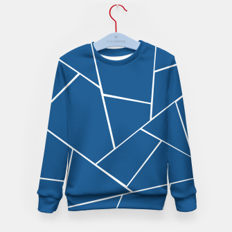 Classic Blue Geometric Glam #1 #geo #decor #art Kindersweatshirt miniature