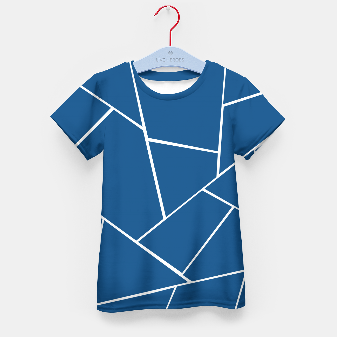 Foto Classic Blue Geometric Glam #1 #geo #decor #art T-Shirt für kinder - Live Heroes
