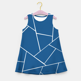 Classic Blue Geometric Glam #1 #geo #decor #art Mädchen-Sommerkleid miniature