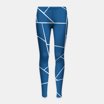 Classic Blue Geometric Glam #1 #geo #decor #art Kinder-Leggins Bild der Miniatur