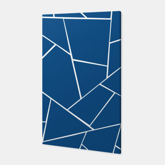 Classic Blue Geometric Glam #1 #geo #decor #art Canvas miniature