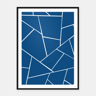 Classic Blue Geometric Glam #1 #geo #decor #art Plakat mit rahmen miniature