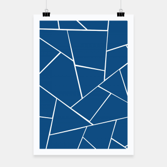 Classic Blue Geometric Glam #1 #geo #decor #art Plakat miniature