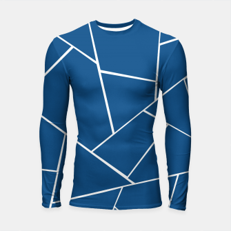 Classic Blue Geometric Glam #1 #geo #decor #art Longsleeve rashguard miniature