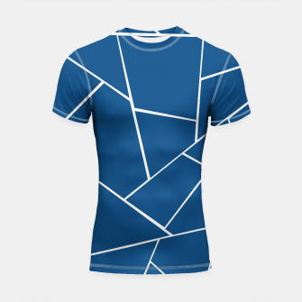 Classic Blue Geometric Glam #1 #geo #decor #art Shortsleeve rashguard miniature