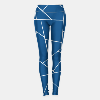 Classic Blue Geometric Glam #1 #geo #decor #art Leggings obraz miniatury