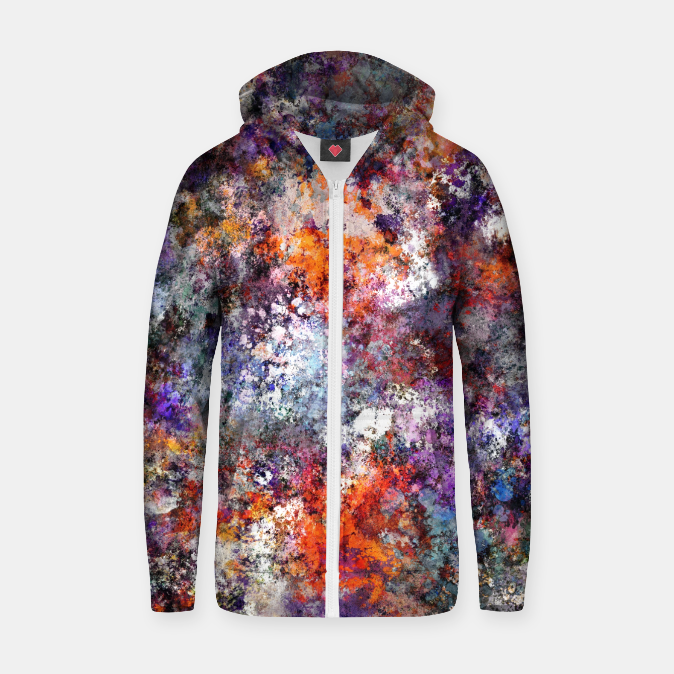 Image of The warm cinders Zip up hoodie - Live Heroes