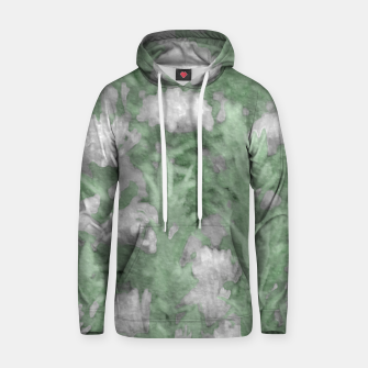 Miniatur Green and White Textured Botanical Motif Manipulated Photo Hoodie, Live Heroes