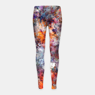 Thumbnail image of The warm cinders Girl's leggings, Live Heroes