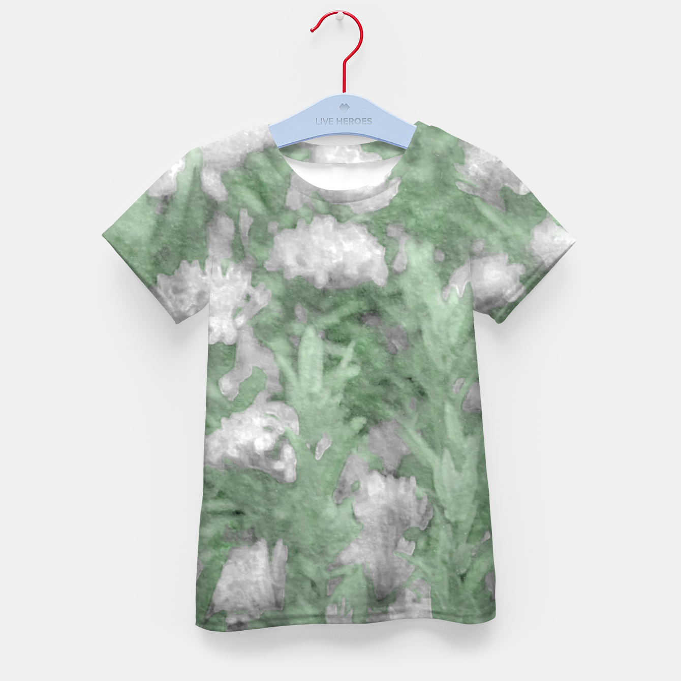 Image de Green and White Textured Botanical Motif Manipulated Photo Kid's t-shirt - Live Heroes