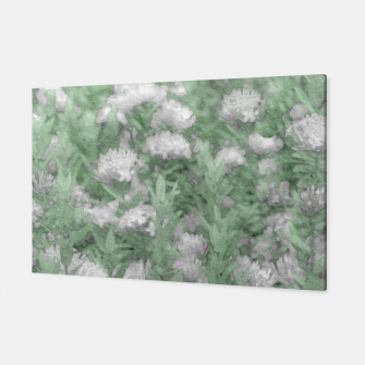 Miniatur Green and White Textured Botanical Motif Manipulated Photo Canvas, Live Heroes