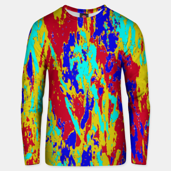 Multicolored Vibrant Abstract Textre Print Unisex sweater Bild der Miniatur