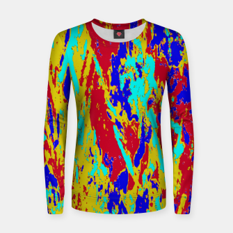 Miniatur Multicolored Vibrant Abstract Textre Print Women sweater, Live Heroes