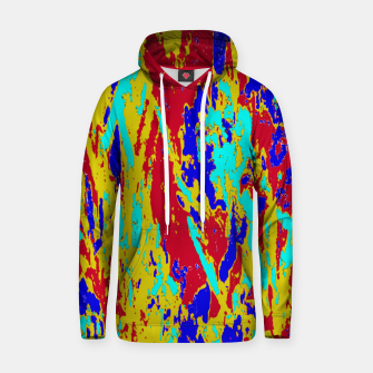 Multicolored Vibrant Abstract Textre Print Hoodie Bild der Miniatur